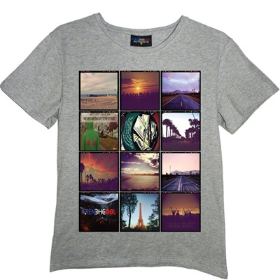 FRENCHCOOL Polaroid - T-shirt en coton col rond