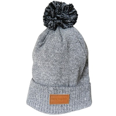 French Pompon - Bonnet - gris clair