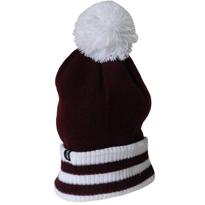 French Pompon - Bonnet - bordeaux