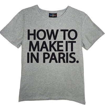 FRENCHCOOL How to make it in Paris - T-shirt en coton col rond