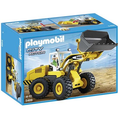 PLAYMOBIL City Action - Chargeuse avec godet Playmobil - multicolore