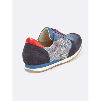 CYRILLUS Baskets en cuir - multicolore