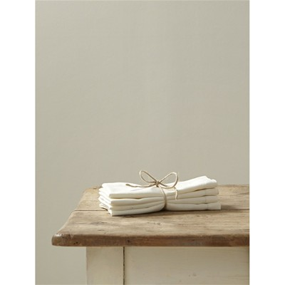 Lot de 4 serviettes de table - ivoire
