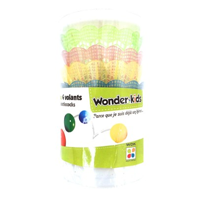WONDERKIDS Volants de Badminton - multicolore