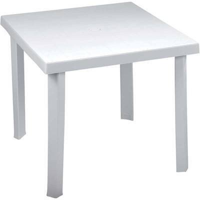 PLASTICA Table carrée - blanc