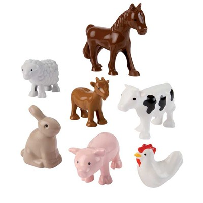ECOIFFIER Lot de 7 figurines - multicolore