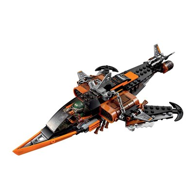 LEGO Le requin du ciel Ninjago - Avion amovible et transformable - bicolore