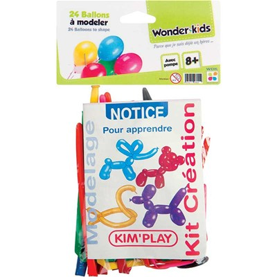 WONDERKIDS Paquet de 24 ballons - multicolore