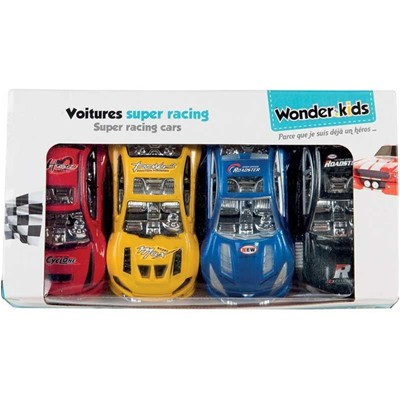 WDK PARTNER Lot de 4 autos Super Racing RF - multicolore