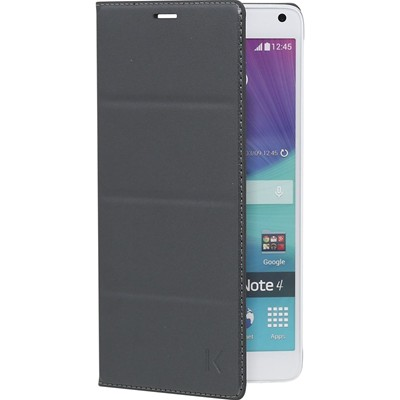 The Kase etui à clapet pour samsung galaxy note 4 - gris