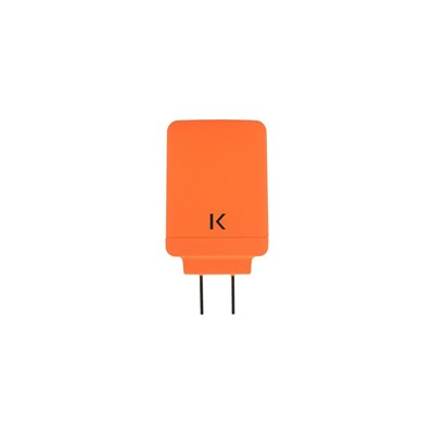 The Kase chargeur universel double usb - orange