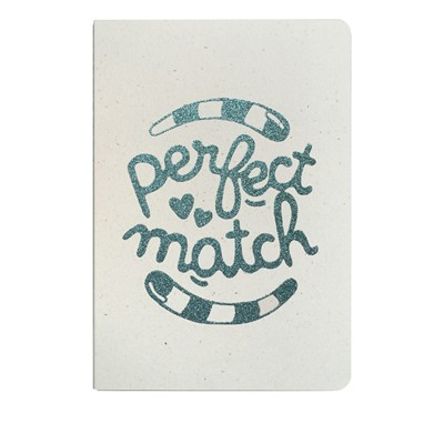 THE COOL COMPANY Perfect match - Carnet paillettes - bleu ciel