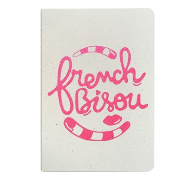 THE COOL COMPANY French bisou - Carnet paillettes - rose