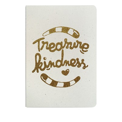 THE COOL COMPANY Tresaure Kindness - Carnet paillettes - or