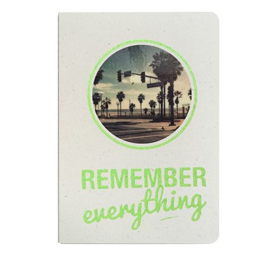 THE COOL COMPANY Remember everything - Carnet paillettes et visuel - mousse