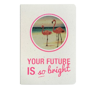 THE COOL COMPANY Your future is so bright - Carnet paillettes et visuel - rose
