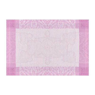 LE JACQUARD FRANÇAIS Villa Médicis Tourmaline - Set de table en lin - rose