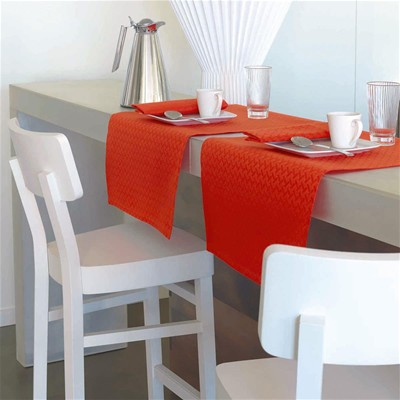 LJF BY Cannage - Chemin de table - orange