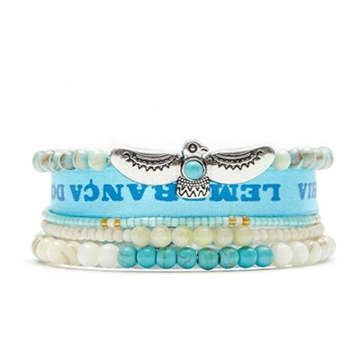 Hipanema Mini Bird - Pulsera brazalete - azul