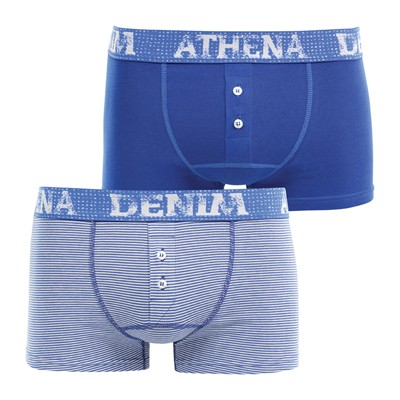 ATHENA Denim West - Lot de 2 boxers - bleu