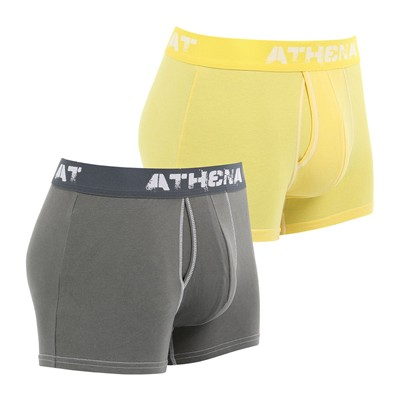 ATHENA Denim Used - Lot de 2 boxers - bicolore