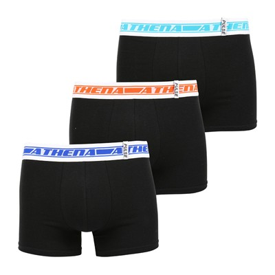 ATHENA Pulse - Lot de 3 boxers - noir