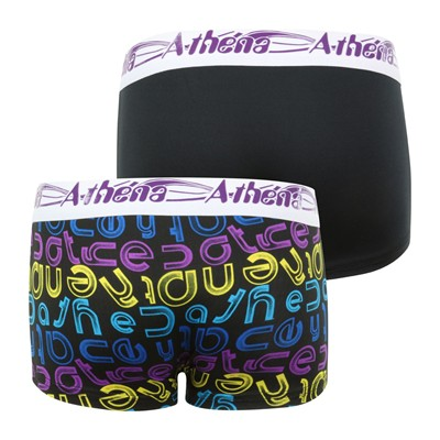 ATHENA Graphic - Lot de 2 boxers - imprimé