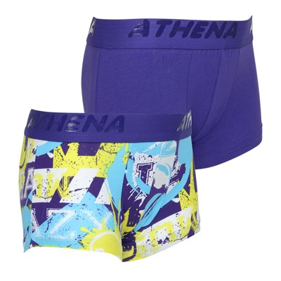 ATHENA Graphic - Lot de 2 boxers - bicolore