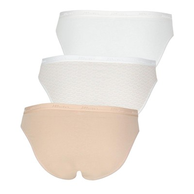 ATHENA Trio Choc - Lot de 3 slips - naturel