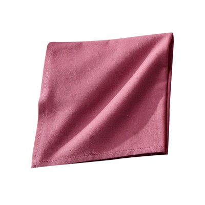 BECQUET Lot de 6 serviettes - rose
