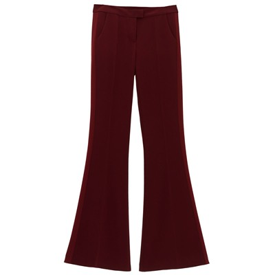 Pantalon bootcut - bordeaux