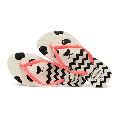 HAVAIANAS Kids Slim - Tongs - blanc