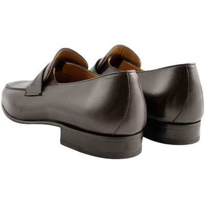EXCLUSIF PARIS Leon - Mocassins en cuir - marron