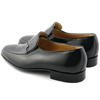 EXCLUSIF PARIS Mathias - Mocassins en cuir - noir