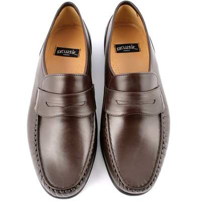 EXCLUSIF PARIS Alfio - Mocassins en cuir - marron