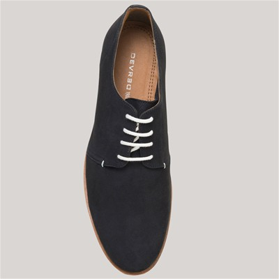 Derbies en cuir - bleu