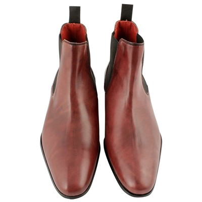 EXCLUSIF PARIS Fats - Boots en cuir - bordeaux