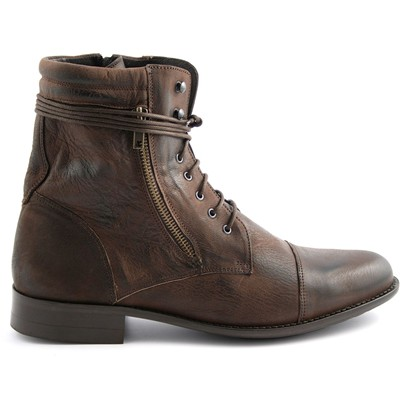 EXCLUSIF PARIS Wanted - Boots en cuir - marron
