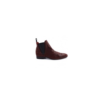 EXCLUSIF PARIS Zoom - Boots en cuir - bordeaux