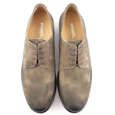 EXCLUSIF PARIS Bragga - Derbies en cuir - taupe