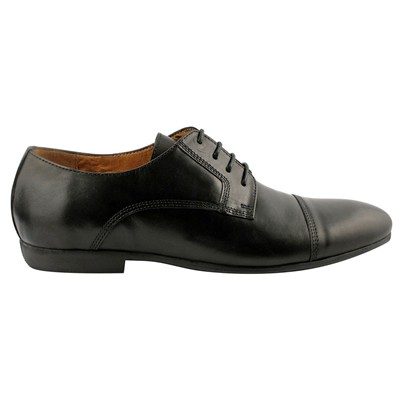 EXCLUSIF PARIS Luke - Derbies en cuir - noir
