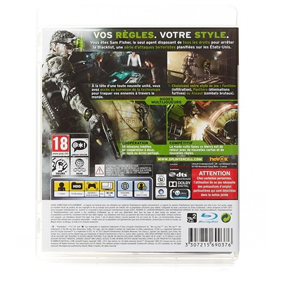 HIGH TECH Jeu Splinter Cell Blacklist sur PS3