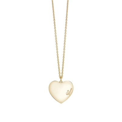 GUESS Heartbeat - Collier en plaqué or jaune - or