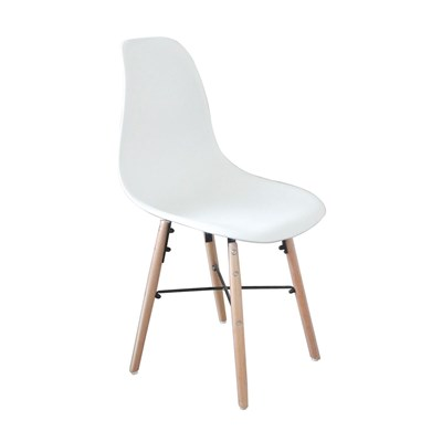 Sixties - Lot de 4 Chaises - blanc