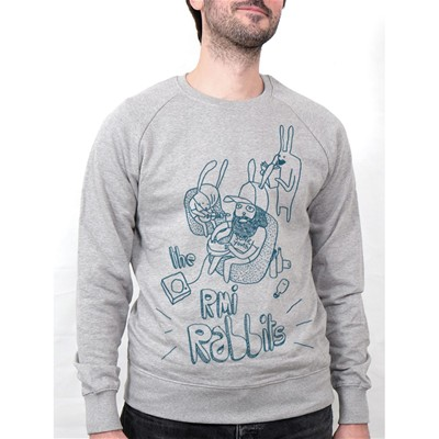MONSIEUR POULET Rmi Rabbits - Sweat-shirt - gris chine