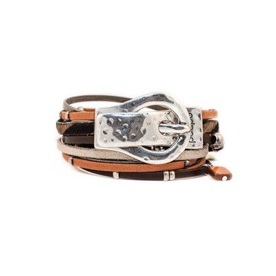 Willy - Bracelet en cuir - mandarine