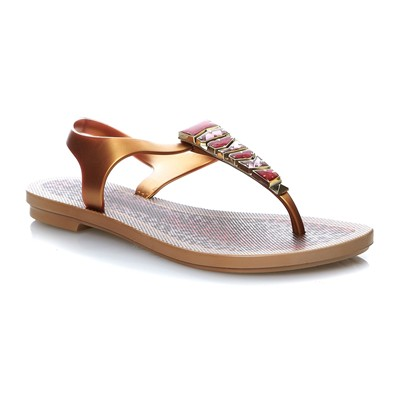JEWEL SANDAL - Sandales - or