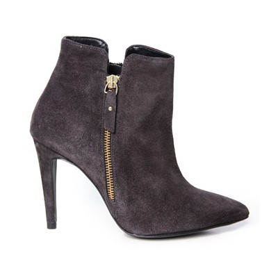 Boots en cuir - anthracite
