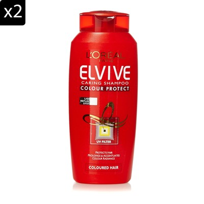 L'ORÉAL PARIS Elseve colour protect - Lot de 2 shampoings - 200 ml