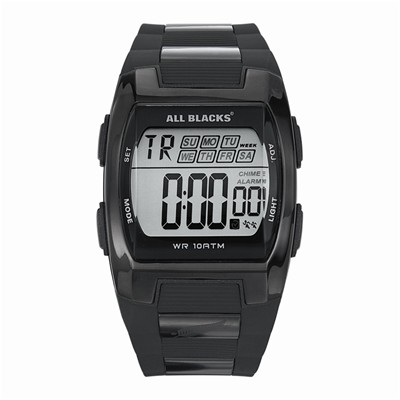 All Blacks montre bracelet en métal - noir